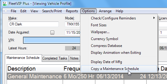 fleet vehicle software profile