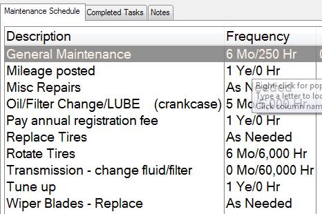fleet vehicle maintenance schedule template has been applied