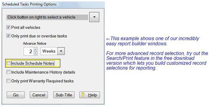 fleet maintenance software preventive maintenance reports
