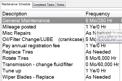 fleet vehicle maintenance schedule template has been applied