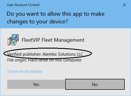 Code Signed FleetVIP Fleet Maintenance Software